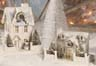 Christmas Village Cardboard Houses and Churches