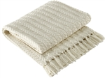 Cream Colored Cable Woven Throw by Park Designs