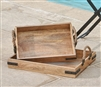 Wooden Rustic Trays set of 2 by Park Designs