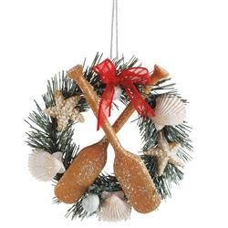 Seashell Wreath Ornament | Coastal Christmas | Seasons of Cannon Falls