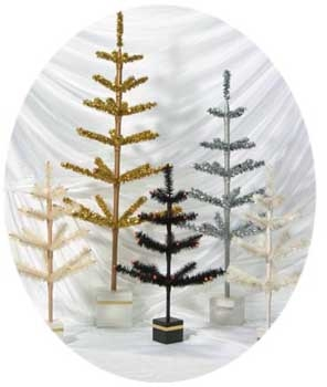 Retro Silver Christmas Tree