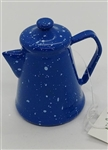 Blue Glass Camping Coffee Pot Ornament by Gallerie II