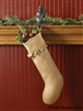 Burlap Ruffled Christmas Stocking by Park Designs