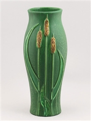 Cattails Vase Cucumber Green by Door Pottery