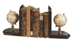 Globe Bookends by Authentic Models