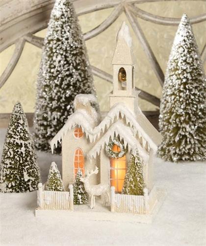 Glitter Church | Christmas Cardboard Church | Bethany Lowe