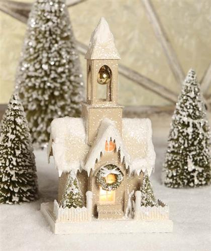 Glitter Church Christmas Church Bethany Lowe