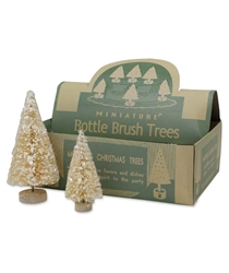Vintage Box of Miniature Bottle Brush Trees