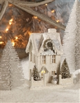 Ivory Christmas Glitter House by Bethany Lowe