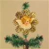 Blond Haired Angel Dresden Tree Topper by Samantha Claus