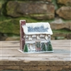 Log Cabin Glitter Christmas House by Ragon House