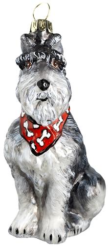 grey schnauzer ornament