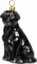 Black Lab Ornament by Joy to the World
