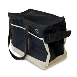 Big Black Tote Bag Dog Carrier by Dogo Pet Fashions