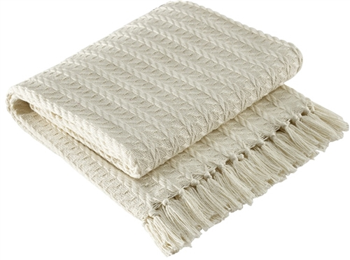 05a4d63908b7 Cream Colored Cable Woven Throw by Park Designs