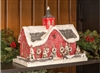 Red New England Style Cardboard Christmas Barn by Ragon House
