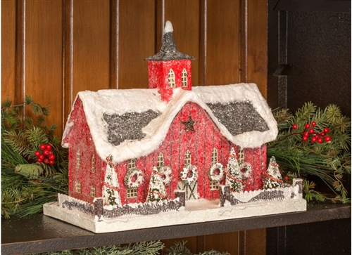 Cardboard Christmas Barn Glitter Barn Ragon House