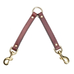 Leather Two Dog Coupler by Mendota