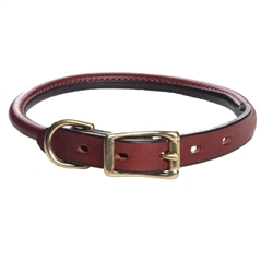 Leather Handler Rolled Collar by Mendota