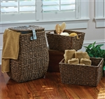 Woven Hamper and 2 Storage Baskets by Park Designs
