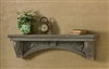 Architectural Gray Painted Shelf by Park Designs