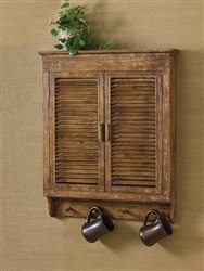 Distressed Wood Shutter Wall Cabinet by Park Designs