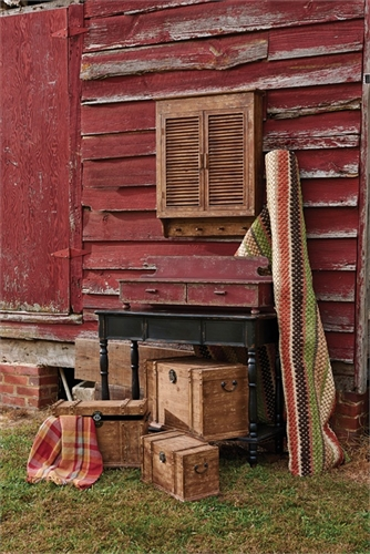 Rustic Shutter Wall Cabinet