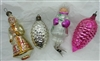Antique Ornaments - Figurals - Pinecones - Handpainted - Clip-on