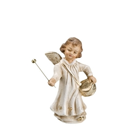 Angel Playing with Drum antique white by Richard Mahr GmbH MAROLIN®
