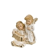 Two Angels Playing Accordian antique white by Richard Mahr GmbH MAROLIN®