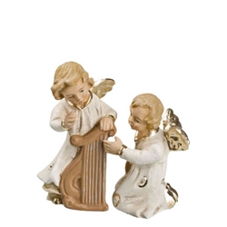 Two Angels With Harp antique white by Richard Mahr GmbH MAROLIN®