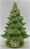 Handmade unlit Light Green Ceramic Christmas Tree
