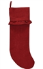 Red Burlap Ruffled Christmas Stocking by Park Designs