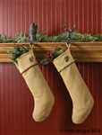 Burlap and Pine Christmas Stocking by Park Designs