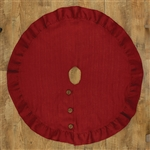 "Red Jute Burlap Tree Skirt 24"" by Park Designs"