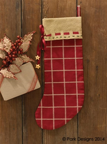 cranberry burlap christmas stocking by park designs - Burlap Christmas Stocking