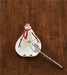 Sleigh Bells Snowman Spoon Rest by Park Designs