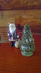 Miniature Green Chenille Christmas Tree by Ragon House