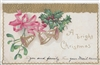 A Bright Christmas Vintage Postcard