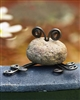River Stone Mini Frog by Ancient Graffiti