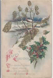 A Happy Christmas Vintage Postcard