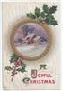 A Joyful Christmas Vintage Postcard