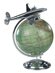 On Top Of The World Globe and Vintage Model Plane by Authentic Models