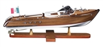 Aquarama Wooden Boat Model by Authentic Models