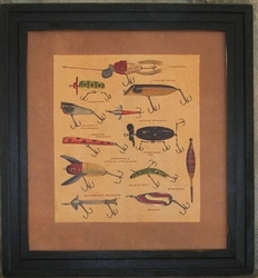 Antique Fishing Lures Framed Print by Bonnie Wolfe
