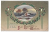 Best Christmas Wishes Vintage Postcard