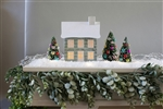 Pop Up Christmas House Vintage Music Notes