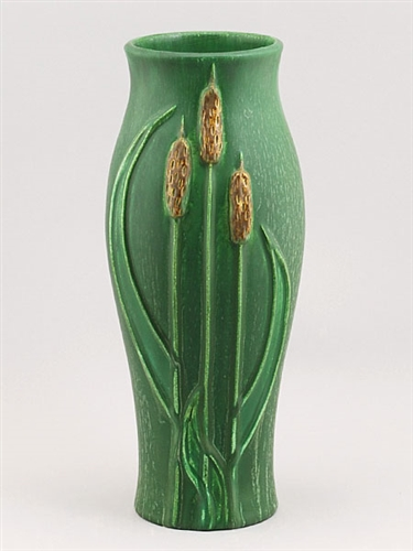 Cattails Vase Cucumber Green by Door Pottery & Cattails Vase | Mission Style Pottery | Door Pottery