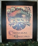 Christmas Greetings Framed Print by Bonnie Wolfe