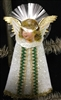 Spun Glass Cotton Batting Ornament - Angel Head by Dennis Bauer